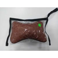 Авто подушка косточка соты экокожа коричневый